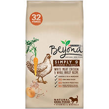 Purina Beyond Simply 9 White Meat Chicken and Whole Barley Recipe Dog Food (32 lbs.)