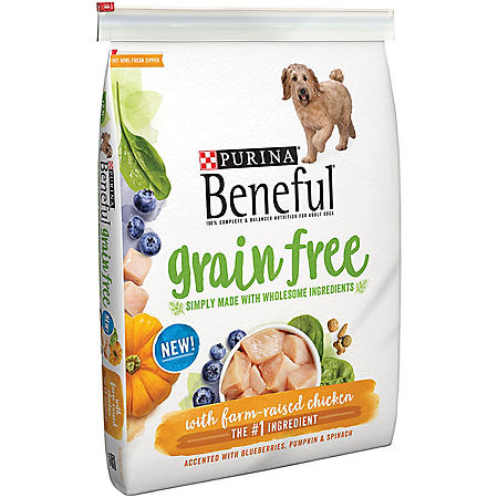 Purina Beneful Grain-Free with Real Farm-Raised Chicken Adult Dry Dog Food (12.5 lbs.)