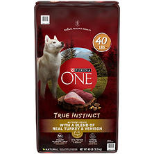 Purina ONE SmartBlend True Instinct With a Blend of Real Turkey and Venison Adult Premium Dog Food (40 lbs.)