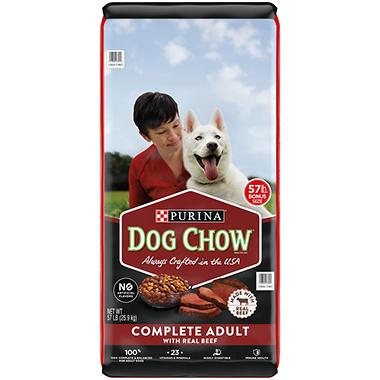 Purina Dog Chow Complete Adult Dry Dog Food Beef 57 Lbs