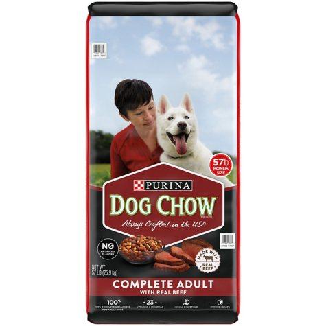 Purina Dog Chow Complete Adult Dry Dog Food, Beef (57 lbs.)
