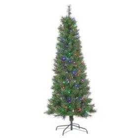 6.5' Multicolored LED Fiber-Optic Christmas Tree
