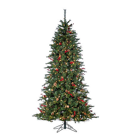 7.5' Natural Christmas Tree with Berries