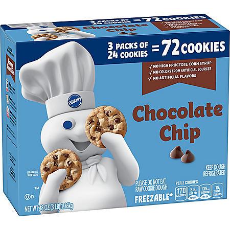 Pillsbury Chocolate Chip Cookies (72 ct.)