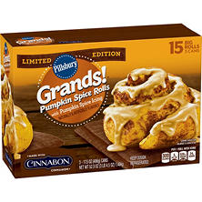 Pillsbury Grands Pumpkin Spice Rolls (52.5 oz., 3 pk.)