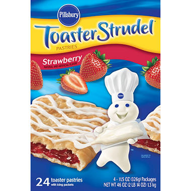 Pillsbury Toaster Strudel Strawberry Toaster Pastries 24 ct
