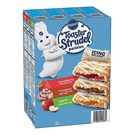 Pillsbury Toaster Strudel Pastries Variety Pack, Frozen (24 ct.)