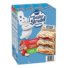 Pillsbury Toaster Strudel Variety Pack - Strawberry, Apple, and Cinnamon Roll (24 ct.)