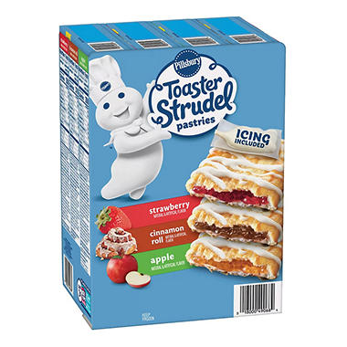 Pillsbury Toaster Strudel Variety Pack 24 Ct Sams Club