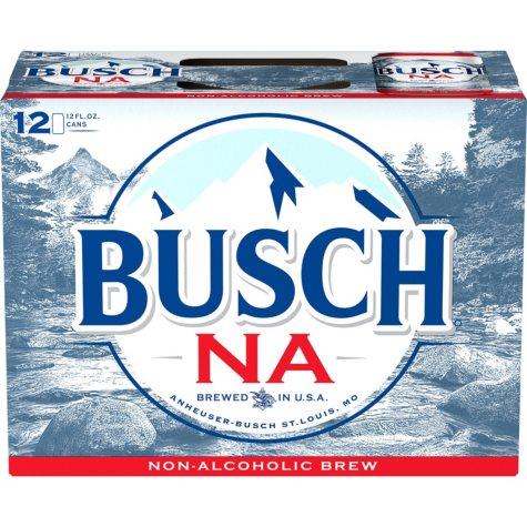 Busch Non-Alcoholic Beer (12 fl. oz. can, 12 pk.)