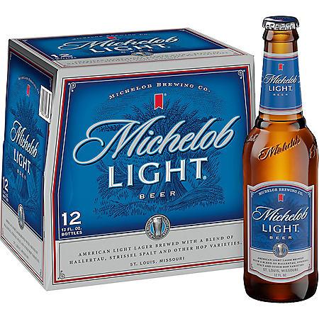 MICHELOB LIGHT 12 / 12 OZ BOTTLES