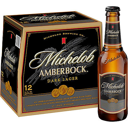 MICHELOB AMBER BOCK 12 / 12 OZ BOTTLES