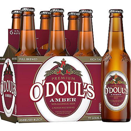 O'Doul's Amber Non-Alcoholic Beer (12 fl. oz. bottle, 6 pk.)