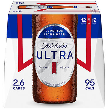 Michelob Ultra Superior Light Beer (12 Fl. Oz. Bottle, 12 Pk.