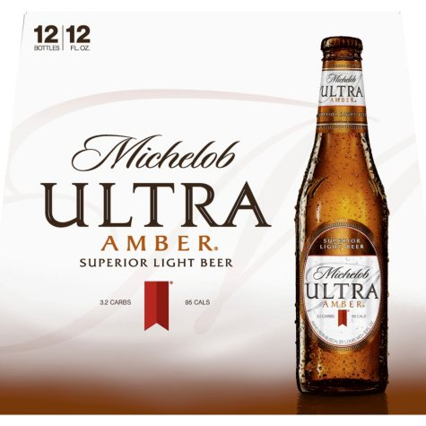 Michelob Ultra Amber Light Beer (12 fl. oz. bottle, 12 pk.)