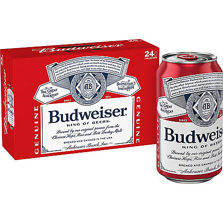 Budweiser (12 fl. oz. can, 24 pk.)