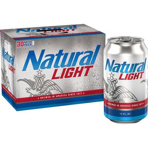 Natural Light Beer (12 fl. oz. can, 30 pk.)