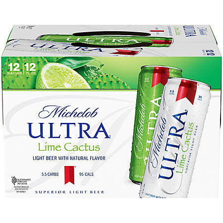Michelob Ultra Infusions Lime & Prickly Pear Cactus (12 fl. oz. can, 12 pk.)