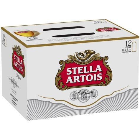 Stella Artois (11.2 fl. oz. can, 12 pk.)