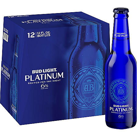 BUD LT PLATINUM 12 / 12 OZ BOTTLES