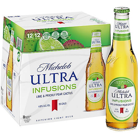 Michelob Ultra Infusions Lime & Prickly Pear Cactus (12 fl. oz. bottle, 12 pk.)