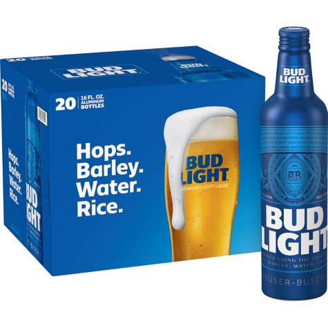 BUD LIGHT ALUMINUM 20 / 16 OZ BOTTLES