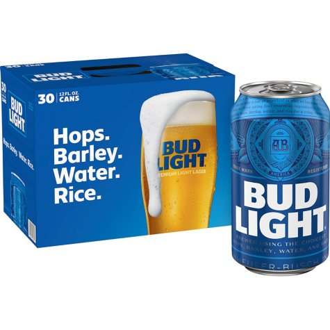 Bud Light Beer (12 fl. oz. can, 30 pk.)