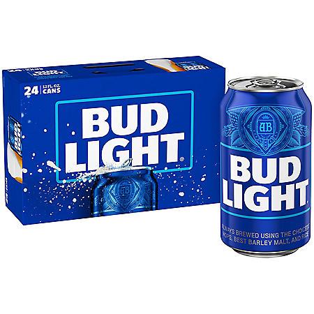 Bud Light Beer (12 fl. oz. can, 24 pk.)