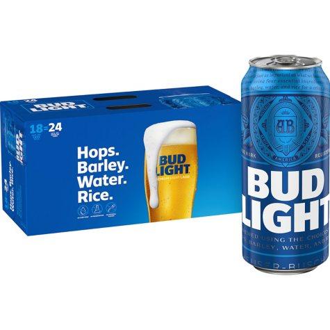 Bud Light Beer (16 fl. oz. can, 18 pk.)