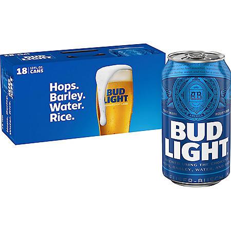 BUD LIGHT 18 / 12 OZ CANS