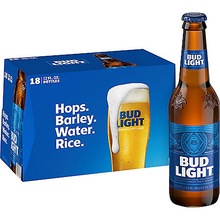 BUD LIGHT 18 / 12 OZ BOTTLES