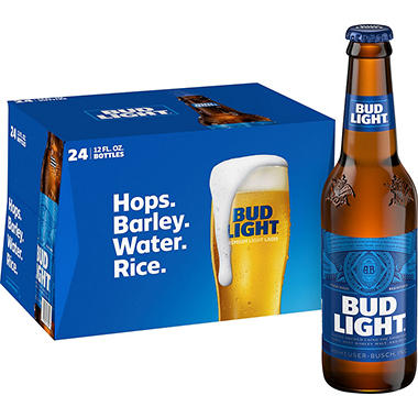 Bud Light Beer (12 fl. oz. bottle, 24 pk.)
