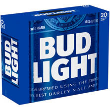 Bud Light Beer (12 fl. oz. can, 20 pk.)