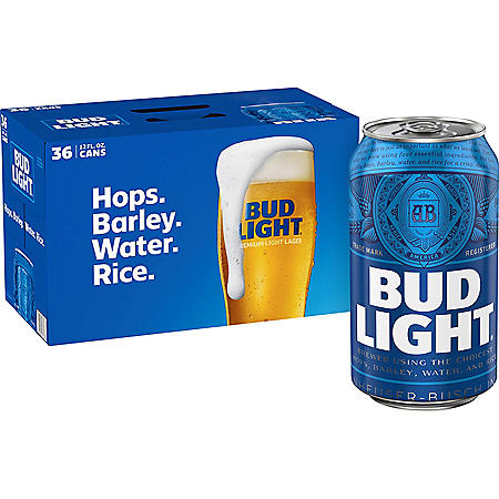 Bud Light Beer (12 fl. oz. can, 36 pk.)