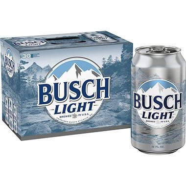 Busch Light Beer 12 Fl Oz Can 30 Pk