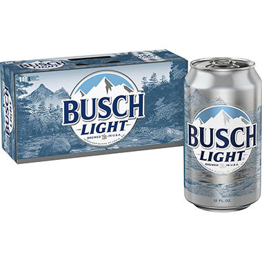 Busch Light Beer (12 oz. cans, 18 pk.)