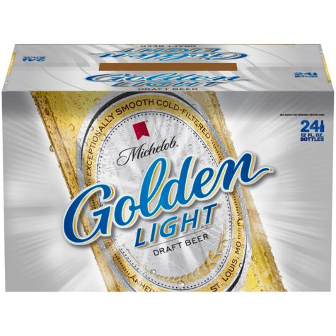Michelob Golden Light Draft Beer (12 fl. oz. bottle, 24 pk.)