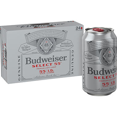 Bud Select 55 (12 fl. oz. can, 24 pk.)