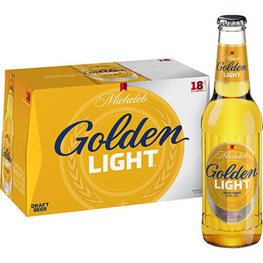 Michelob Golden Light Draft Beer 12 Fl Oz Bottle 18 Pk
