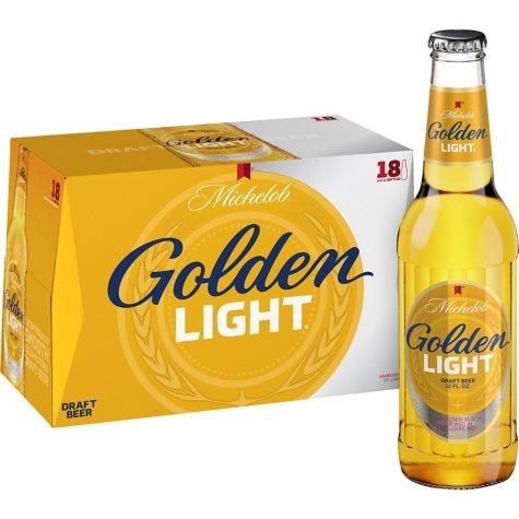 Michelob Golden Light Draft Beer (12 fl. oz. bottle, 18 pk.)