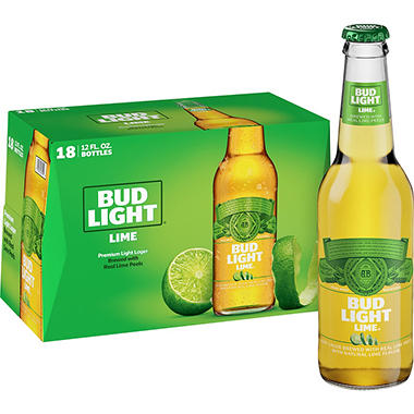 Bud Light Lime Beer (12 fl. oz. bottle, 18 pk.)