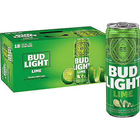 BUD LIGHT LIME 18 / 12 OZ CANS