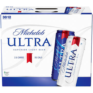 Michelob Ultra Superior Light Beer (12 oz. cans, 30 pk.)