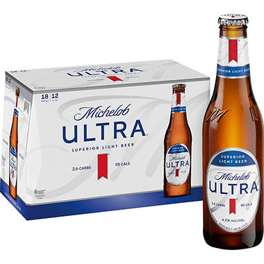 MICHELOB ULTRA 18 / 12 OZ BOTTLES