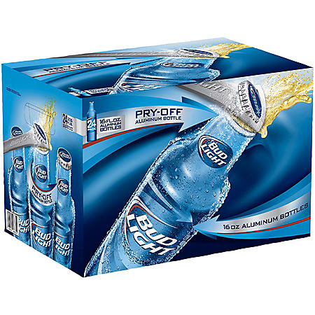 BUD LIGHT ALUMINUM 24 / 16 OZ BOTTLES