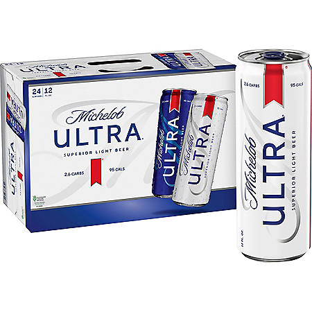 Michelob Ultra Superior Light Beer (12 fl. oz. can, 24 pk.)
