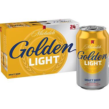 Michelob Golden Light Draft Beer 12 Fl Oz Can 24 Pk