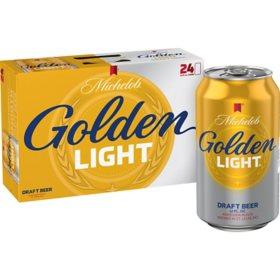 Michelob Golden Light Draft Beer (12 fl. oz. can, 24 pk.)