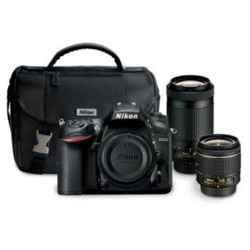 Nikon D7200 24.1MP DSLR Bundle with  18-55mm f/3.5-5.6G VR Lens,  70-300mm f/4.5-6.3G ED Lens, and Camera Bag