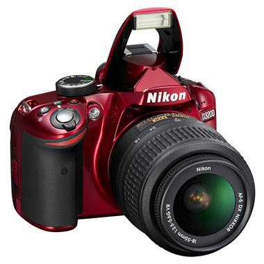 Nikon D3200 24.2MP DSLR - Red